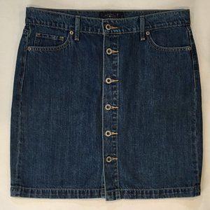 Lucky Women's Blue Jean Skirt 6 Buttons Size12/31